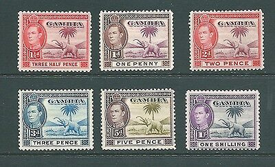 GAMBIA - 1938 Mint ELEPHANT stamps to 1 Shilling - George VI