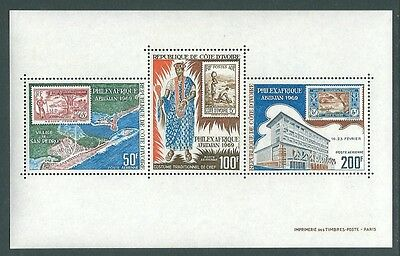 IVORY COAST - 1969 Philatelic Exhibition Miniature Sheet MNH