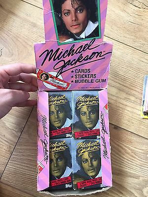 1984 Topps Michael Jackson Trading Cards Box 32+ Wax Packs