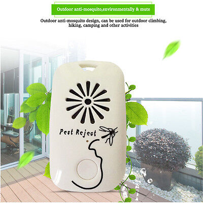 Ultrasonic Portable Mosquito Dispeller Insect Repellent Outdoor Travel Sleeping