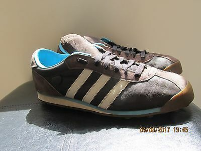 Adidas Men's Trainers Size Uk 8 Brown/whitegood Condition