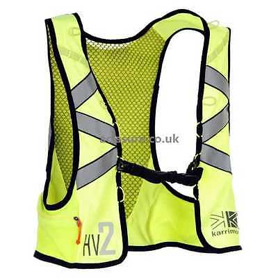 Karrimor Hi-Viz 2 Elite Run Running Clothing Vest Backpack Hydration Yellow R152