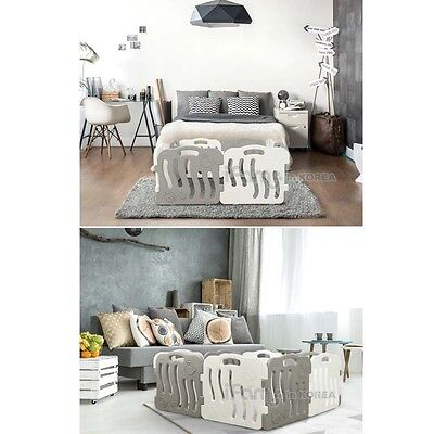 New IFAM Shell Baby Room White 4pcs Gray 4pcs SET Self Baby Room Standing Fence