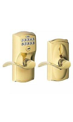 Schlage FE595 CAM 505 ACC Camelot Keypad Entry With Flex-lock And Accent Levers