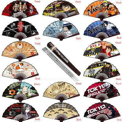8 INCHS Folding Fan Bamboo&Tough Paper Anime Totoro One Piece Printed Hand Fans