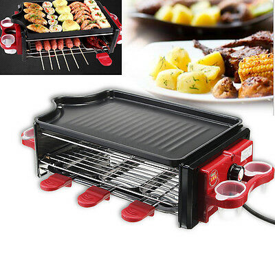 Electric Smokeless BBQ Barbecue Grill Oven Stove Camp Outdoor Garden Hot Plate