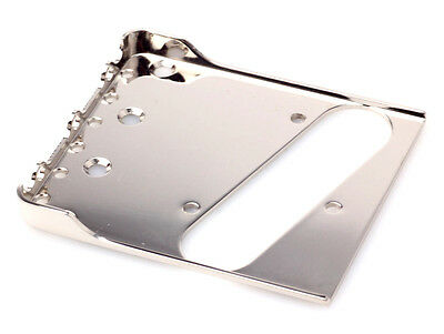 "Tele® Bigsby Flat Mount Bridge 0.60"" CR-Steel Nickel Polished -Made in USA-"
