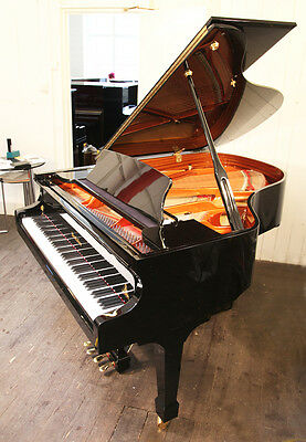 New, Wendl and Lung Model 178 piano with a black case and a 4th harmonique pedal