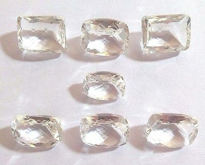 7 Pcs Lovely Natural Crystal Quartz Gemstone Octagon Faceted Making Jewelry 3768