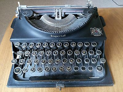 Imperial Good Companion - Vintage Antique Typewriter & Case - Leicester England