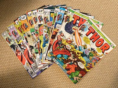 The Mighty Thor - 13 issues: 211,221,255,272,274,276,277,278,280,281,282,285,287