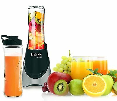 Sharkk Stainless Steel Smoothie Maker 300W Mini Blender with Two(2) 20oz