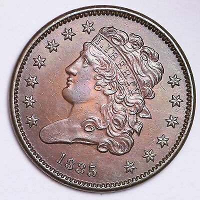 1835 Classic Head Half Cent CHOICE BU FREE SHIPPING E106 CNT