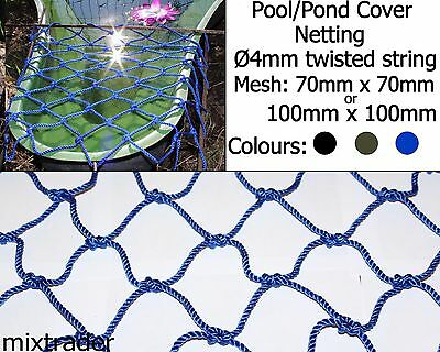 Net Netting 70x70x4mm or 100x100x4mm Pool Pond Cover Safety Protector Protection