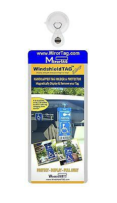 Windshield Tag by JL Safety. Handicap Placard Protective Holder with Suction...