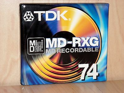 TDK MD-RXG 74 Recordable MiniDisc * Reference Grade * Lot of 12 * NEW & SEALED *