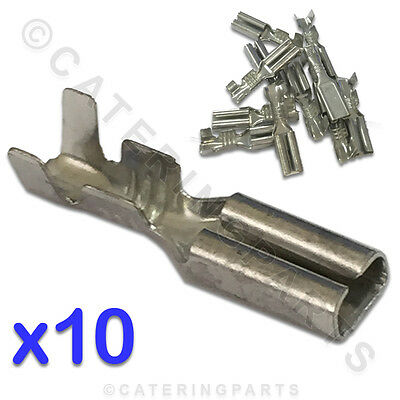 10 X Small 2.8 Push Fit Spade Terminal Connector For Ht Ignition Lead Electrode