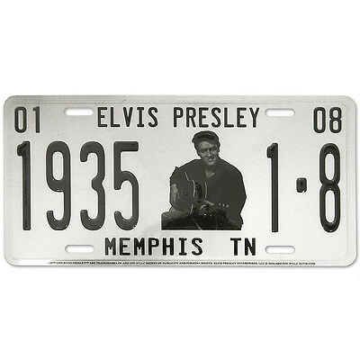 NEW Elvis Presley The King 1935 Collectible Birthdate B&W Photo License Plate