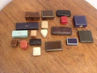 Collection Of Antique Jewellery Boxes & Watch Boxes