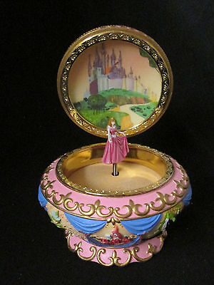 Disney Sleeping Beauty Spinning Princess Aurora Music Box MINT!!!