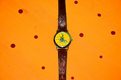 Vintage Curious George Watch Stainless Steel One in a Million leather band