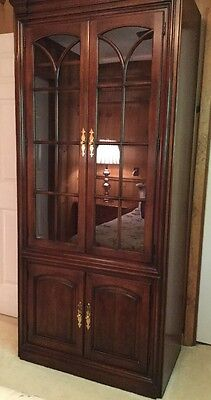 Statton Furniture Company Cherry /Cabinet system Glass Door Breakfront Unit!
