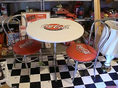 RARE New Coca Cola Bistro Set -Table- 2 Chairs-Summer Party Patio Deck
