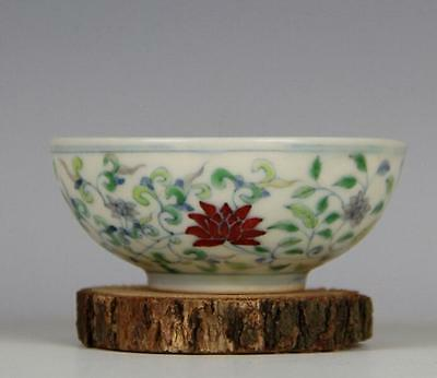chinese ancient Blue and white color bucket porcelain sculpture flower bowl