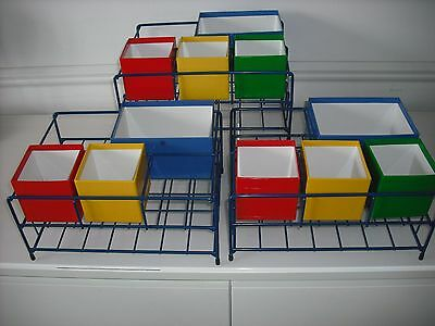 LOT OF 3 Lakeshore Learning help yourself supply Center organizer bins  school