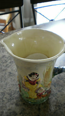 Rare 1938 Wade Heath Disney Snow White And The Seven Dwarfs Musical Jug #2
