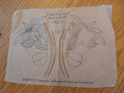 Ww1 Arts And Crafts  Transfer Design For Embroidery  Home Front    29 X 40 Cm