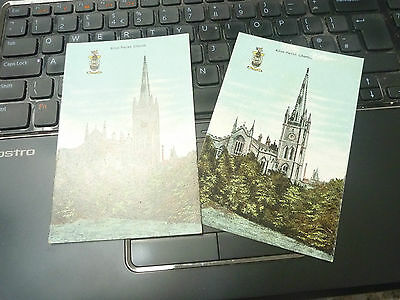 vintage postcard ALLOA   parish church   2 POSTCARDS   A LOT