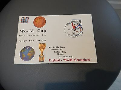 1966 WORLD CUP FIRST DAY COVER  POSTMARK.  Bradford