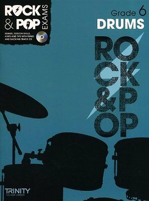 Trinity College London : Rock & Pop Grade 6 For Drums + Cd (Collectif)   Trinity