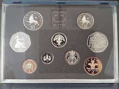 1992 Royal Mint United Kingdom Proof Coin Set In Blue Case With COA