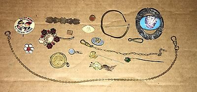Victorian To Vintage Jewelry Parts Or Repair Lot