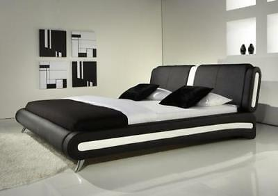 Canali 4Ft6 Double & 5Ft King Size Bed Modern Leather Beds Memory Foam Mattress