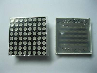 10 pcs LED Dot Matrix Display 3mm 8x8 Red Common Cathode 32x32mm