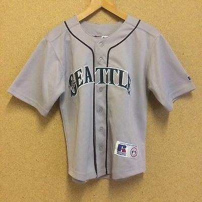 SEATTLE MARINERS BASEBALL JERSEY SHIRT Size 10/12 RUSSELL ATHLETIC