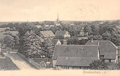 Hermannsburg Germany Birds Eye View Antique Postcard J67478