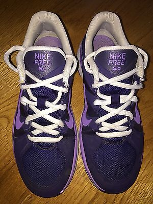 Nike Free 5.0 Running Shoes Size Girl's Purple