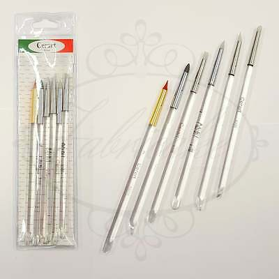 Cerart Set of 6 Modelling Modelling Cake Decorating Tools with Acrylic Handles