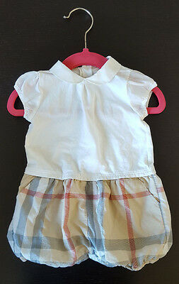 Burberry Baby Boy Girl Unisex Romper Short Sleeves Nova Check Outfit 6 months
