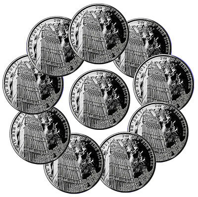 Lot of 10 2017 Britain 1 oz. Silver Landmark Big Ben £2 Mint Cap SKU47519