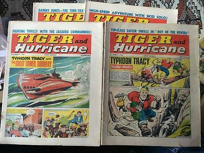 Tiger, featuring Roy of the Rovers. 4x comics complete run from March 1966