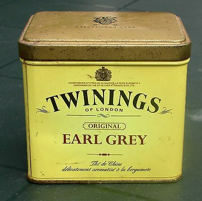 Boite publicitaire Thé Earl Grey Twinings