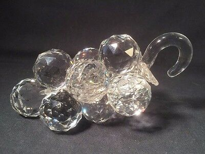 Large Crystal Glass Grapes Ornament With Hook (ref W819)