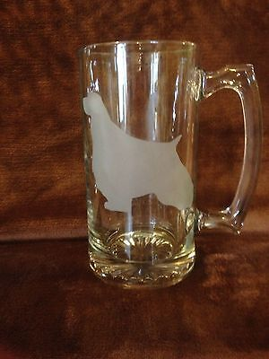 English Springer Spaniel Two Beer Mugs 27oz. Engraved Etched Personalized