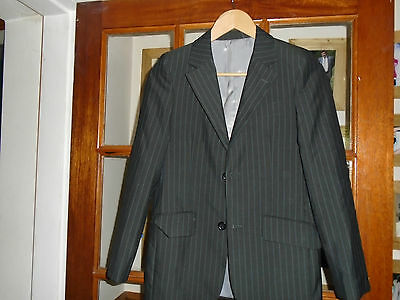 Boys Marks & Spencer smart dark grey lined jacket age 12 years