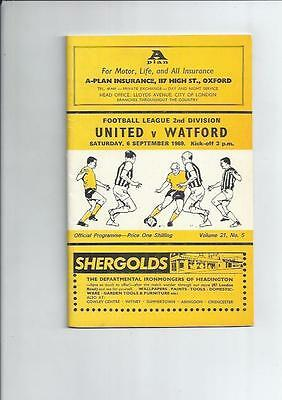 Oxford United v Watford Football Programme 1969/70 + League Review